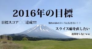 2016年目標